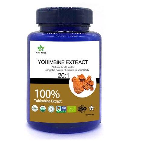Natural Yohimbine HCL  100pcs/bottle 100% Yohimbe Bark Extract