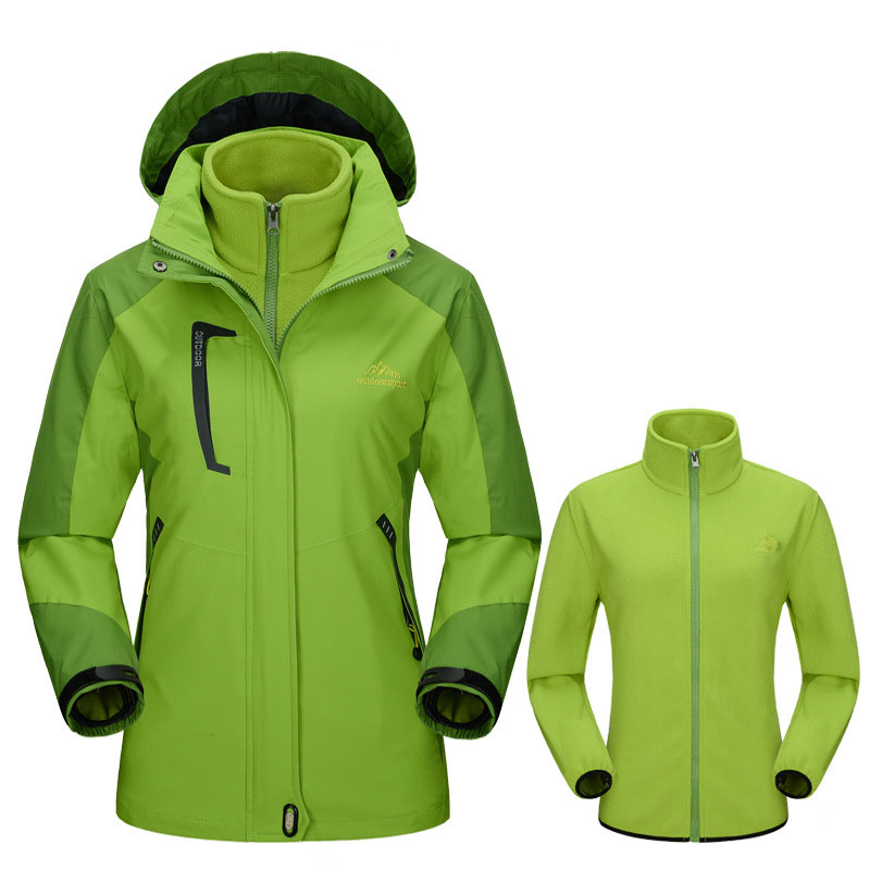 Winter Women Softshell Jackets Outdoor Inside Fleece Jacket Windproof Waterproof Thermal Coats For Ski Hiking Camping Trek VB005