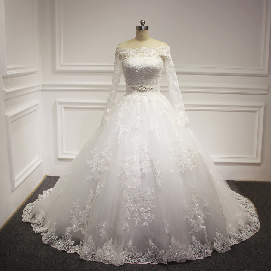 Wedding Dresses Real : Gown princess real wedding dress from reliable