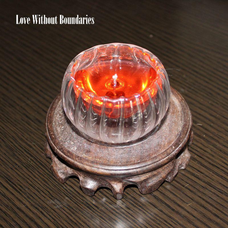 Romantik alev hediye, benzersiz rüya ateş, kristal kabak mum, - Ev Dekoru - Fotoğraf 2