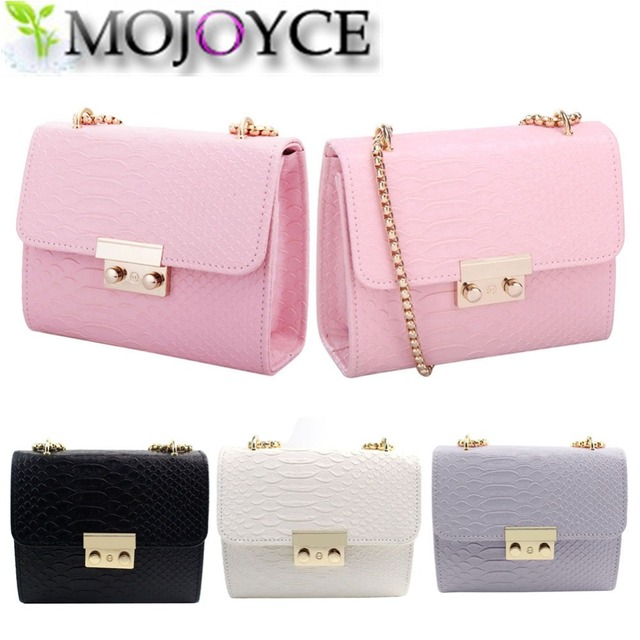 Fashion Women Small Messenger Bags Female Chain Style Shoulder Bags Flap Solid Pattern PU Leather Mini Clutch Handbags