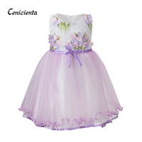 e0d44b1f8c Cenicienta Children Clothing Girl Floral Embroidery Ribbon Layered Princess  Dress For Toddler Girl Dresses For Party. Cenicienta dzieci odzież  dziewczyna ...
