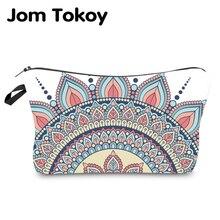 Jom Tokoy Water Resistant Makeup bag Printing Mandala Cosmetic Bag Lovely Organizer Women Multifunction Beauty