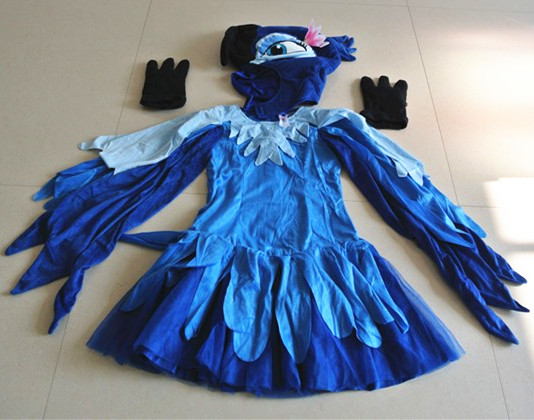 Rio cosplay blauwe papegaai kostuum kinderen volwassen papegaai - Carnavalskostuums