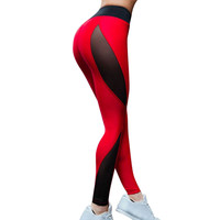 2017 High Quality Mesh Fitness Leggings For Women Sporting Workout Leggins Elastic Trousers Skinny Thick Winter