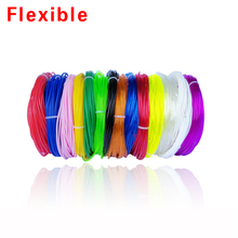 The high quality 3D Printer or 3D pen TPU Flexible Soft rubber 3D Printing material Filament 1.75mm 14colours select 5meters