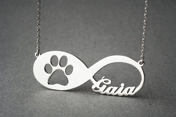 New Arrival Personalized Paw Necklace Custom Name Paw Necklace Popular Design Puppy Paw Pendant Collares Necklace