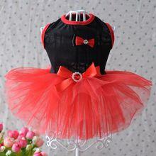 Платье с бантом для щенков, собак, кружевная юбка, платье принцессы, одежда для маленьких собак D1