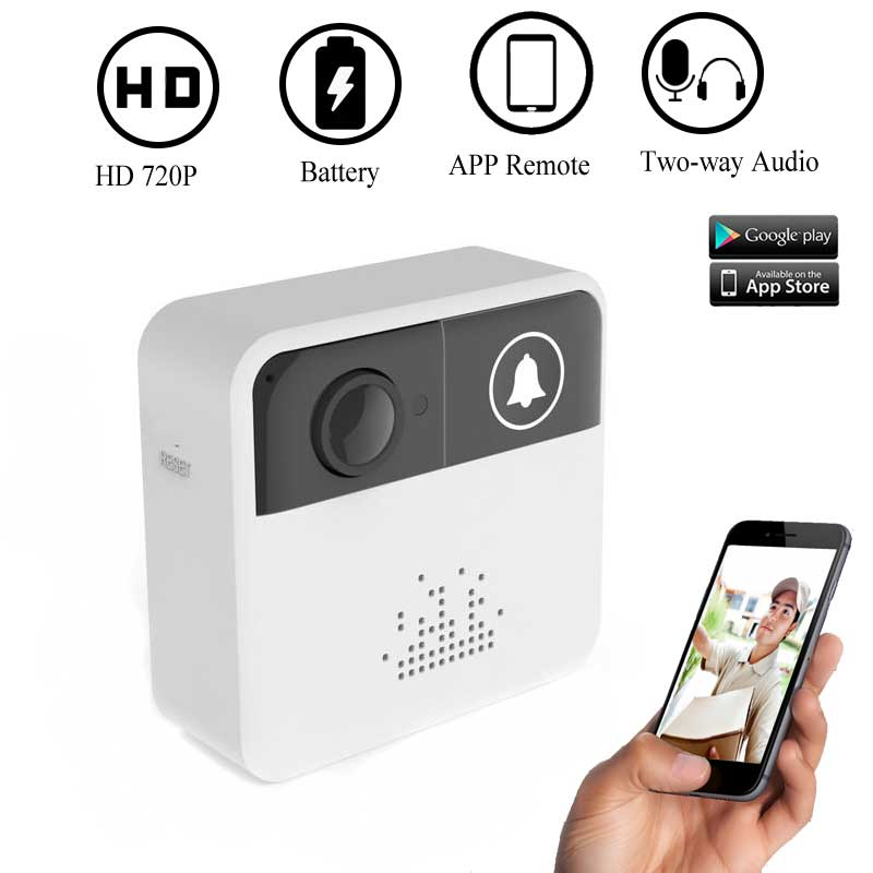 HD 720P Security Smart WIFI Video Music Ring Doorbell Intercom Two-Way Audio Night Vision for IOS and Android APP Remote Control image