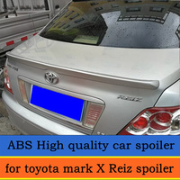 Golden Style high quality ABS spoiler for toyota mark X Reiz spoiler 2005 2006 2007 2008 2009 customize primer color DIY paint