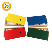 Wooden Montessori Math Toys Mental Arithmetic Box Educational Baby Learning Toys For Kids Addition Box Arithmetic wooden tray montessori learning math puzzle number montessori learning games education clock arithmetic counting toys baby math