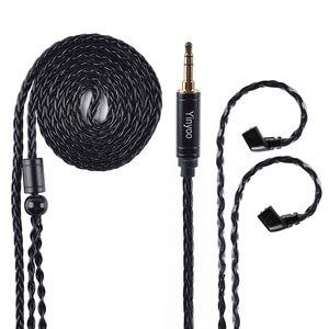 Image 5 - AK Yinyoo 8 ядра Модернизированный посеребренный Медь кабель 3,5 2,5 мм кабель для наушников с MMCX 2Pin для ZSTZS10AS10ZSX C12 V2 BLON TRN