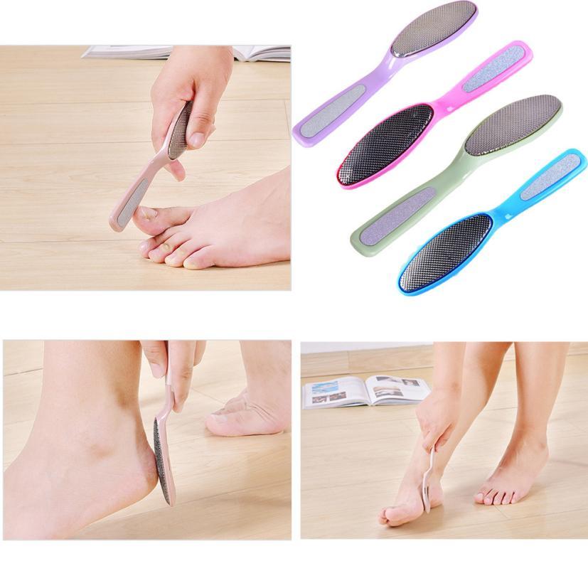 1Pcs metal foot file file can be biotic pedicure callus makeup remover 2AU17