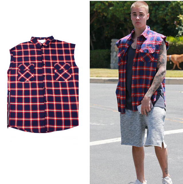 Popular Sleeveless Flannel Men Buy Cheap Sleeveless