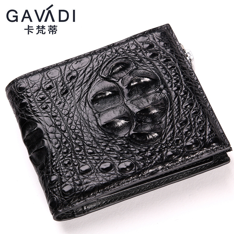 GAVADI Real crocodile skin wallet short wallets business mens clutches fashion wallet men luxury brand leather designer wallet frank buytendijk dealing with dilemmas where business analytics fall short