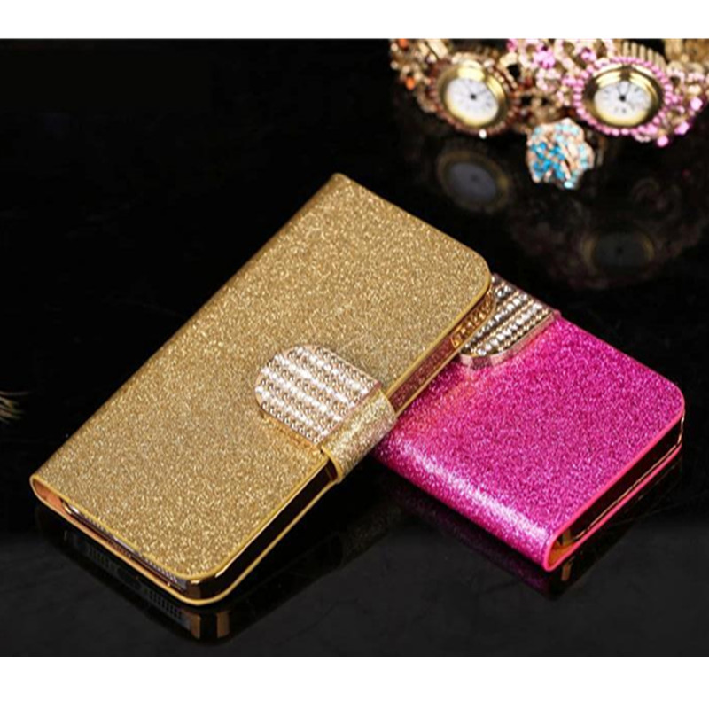 5.5 inches For Nokia 5.1 Luxury Flip PU Leather Phone Case For Nokia 5.1 2018 Shell Shiny Diamond Back Cover Capa