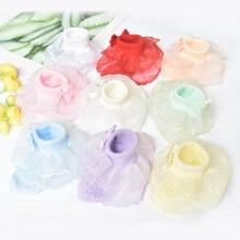 10 пар/лот из хлопка для маленьких девочек; кружевное платье принцессы носки с оборками Детские короткие носки для балетное платье