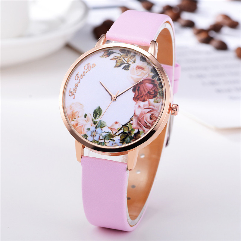 Fashion Womens Watch Girls Casual Flower Dial Leather Band Quartz Wrist Watches Female Clocks Montre Femme Relogio Feminino #D HTB1rdRAjiMnBKNjSZFoq6zOSFXa7