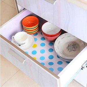 Image 5 - Waterdichte Keuken Antibacteriële Papier Huisdier Plastic Placemat Tafel Garderobe Kast Decoratie Rechthoek Lade Koelkast Mat