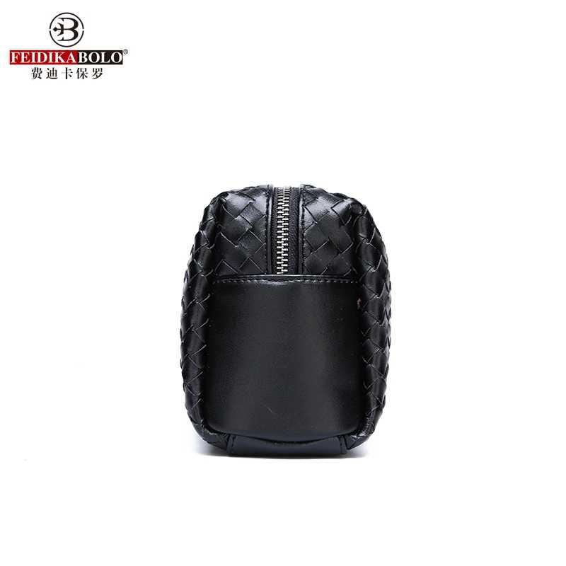 FEIDIKABOLO wysokiej jakości osobowości tkane mężczyźni sprzęgło torba nowa moda proste duża pojemność telefon komórkowy torebka
