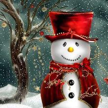 5d diy Алмазная картина Снеговик полная дрель квадратная Рождественская