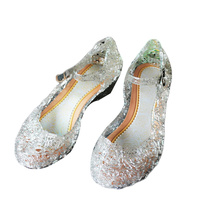 2017 Crystal Girl's Sandals Princess Cosplay Children's Shoes Mary Jane Shoes For Stage Dancing Show Kids High Quality Shoes