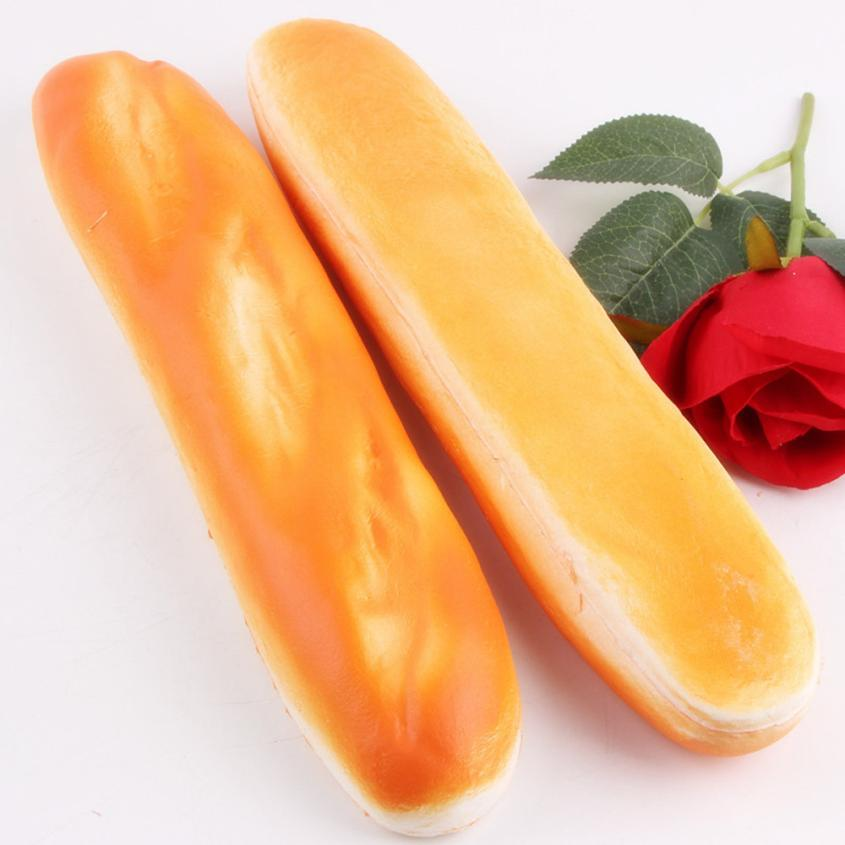 Squishy Simulation Long Strip Bread Bread Phone Straps Slow Rising Bun Charms Gifts Toys Fun Kids Kawaii Kids Adult Toy Stress