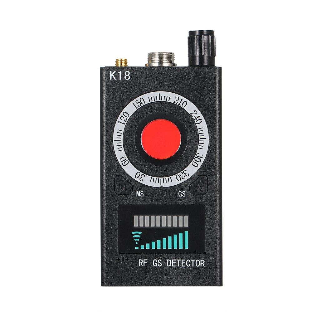 K18 Многофункциональный Анти-шпионский детектор камера GSM аудио ошибка искатель gps сигнал объектив RF трекер Обнаружение беспроводной продук...