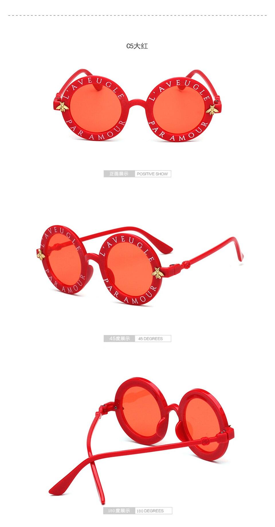 Steampunk Bee Kids Sunglasses Boys Girls Luxury Vintage Children Sunglasses Round Sun Glasses Oculos Feminino Accessories 8