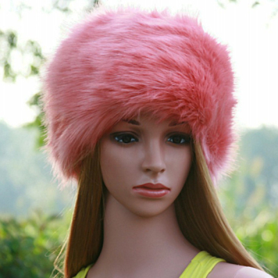 24448b808 Faux Fur Hat RACCOON Winter Warm Round Top Cap Women Russian Ushanka Hat  Cossack Cap Casual Beanies Women Winter Hat