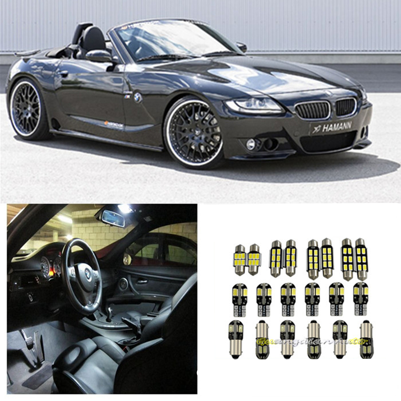 Bmw Z4 E85: Tcart 7 X Error Free White Interior LED Light Package Kit