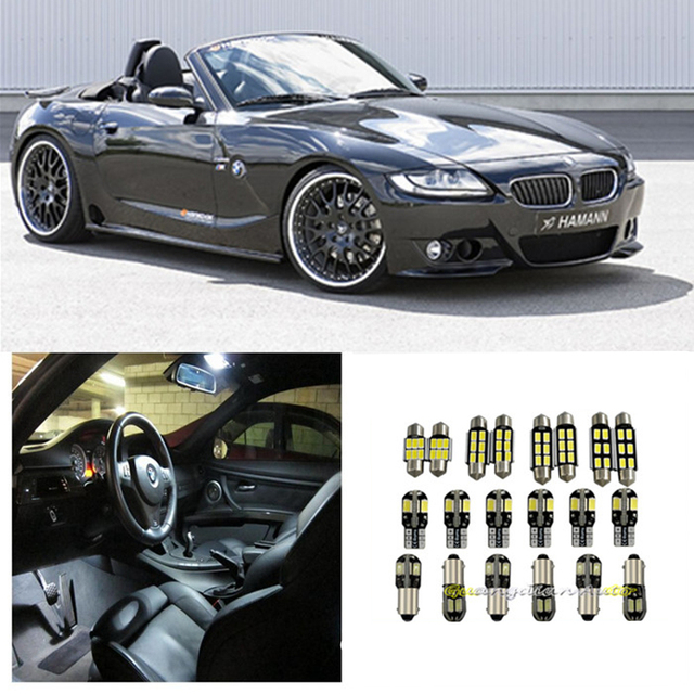 Bmw Z4 2 0 Review 2006: Tcart 7 X Error Free White Interior LED Light Package Kit