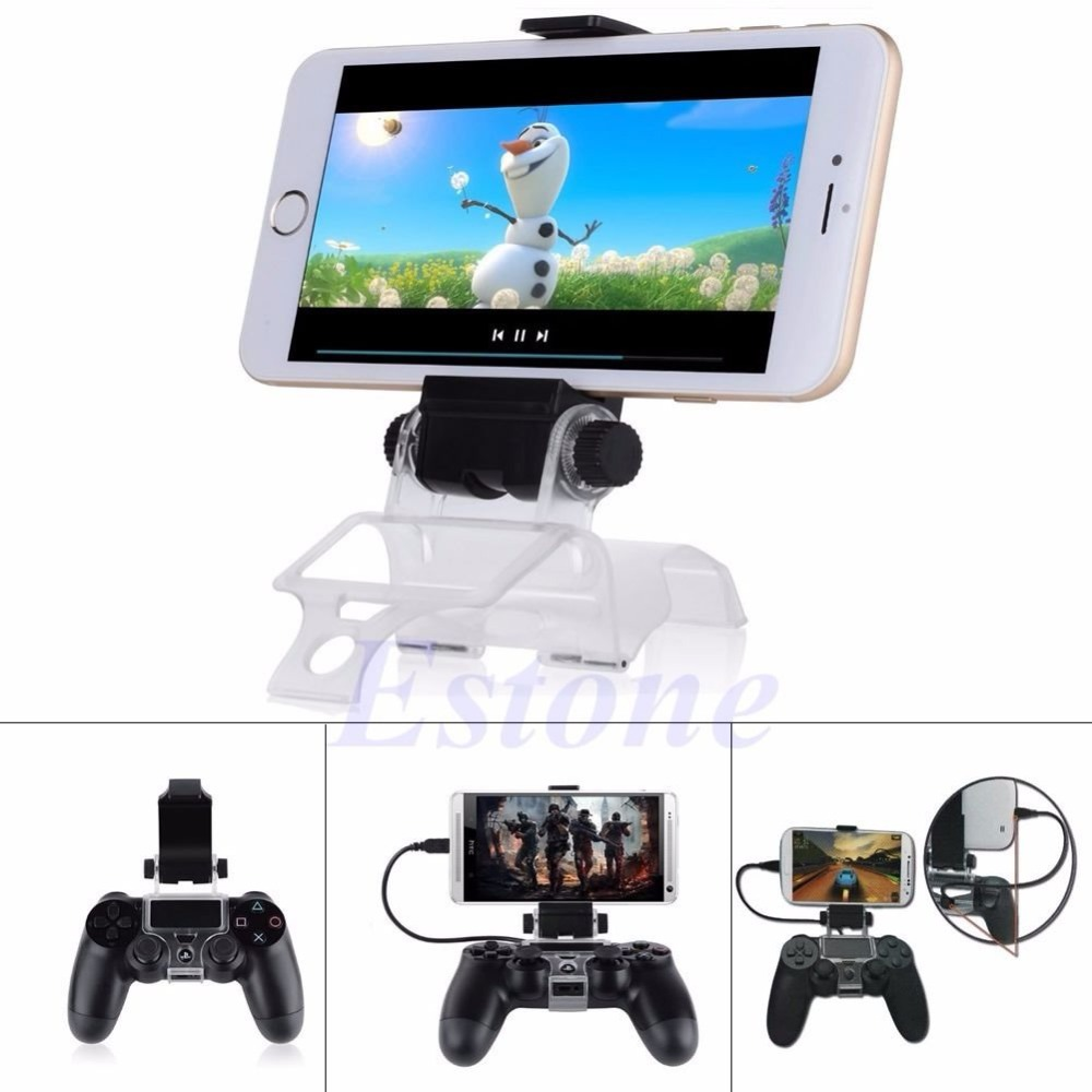 For PlayStation PS4 Game Controller Smart Mobile Phone Clip Clamp Mount Holder for PS4  for PS 4 8cmx6.5cmx4.5cm Dropshipping 1p 5