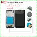 Original nexus 5 lcd para lg google nexus 5 d820 d821 display lcd touch screen digitador com a montagem do quadro
