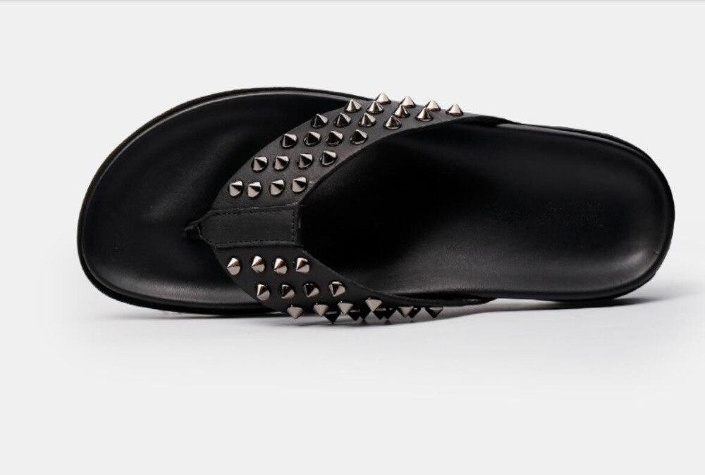 Nity letnie męskie mieszkania sandały szpilki męskie na co dzień mieszkania kapcie Mujers włoskie skórzane sandały dla mężczyzn Size44 w Sandały męskie od Buty na  Grupa 3