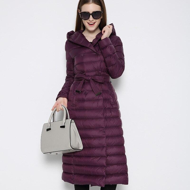 red purple Vers 2018 Coton D'hiver Chaud army Veste Hh421 Bas Femmes Manteau Ouatée Long Black Femme Femelle Green Hiver Le Kmetram Parkas Dames Bw18qd1