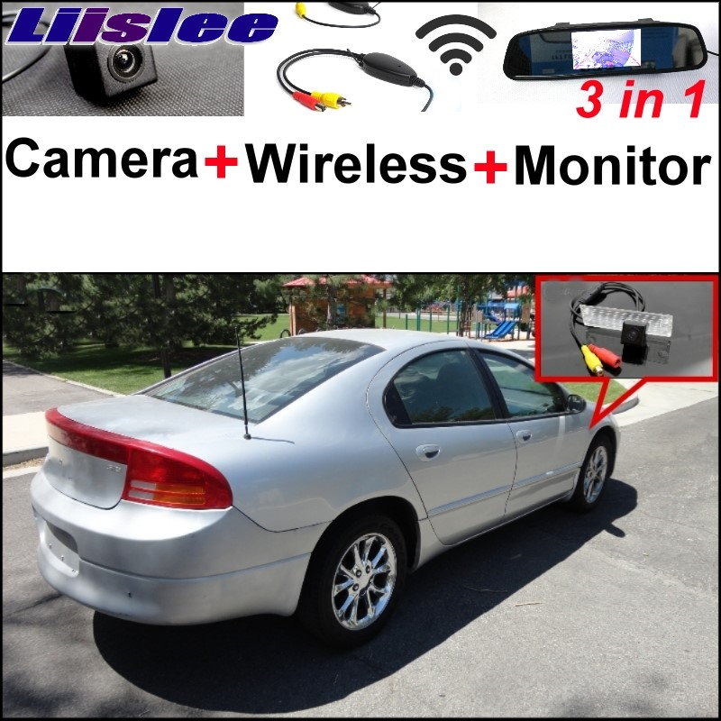 Liislee For Dodge Intrepid 1998~2004 3 in1 Special Rear View Camera + Wireless Receiver + Mirror Monitor DIY Back Parking System 3 in1 special rear view camera wireless receiver mirror monitor back up parking system for citroen ds3 ds 3 2009 2015