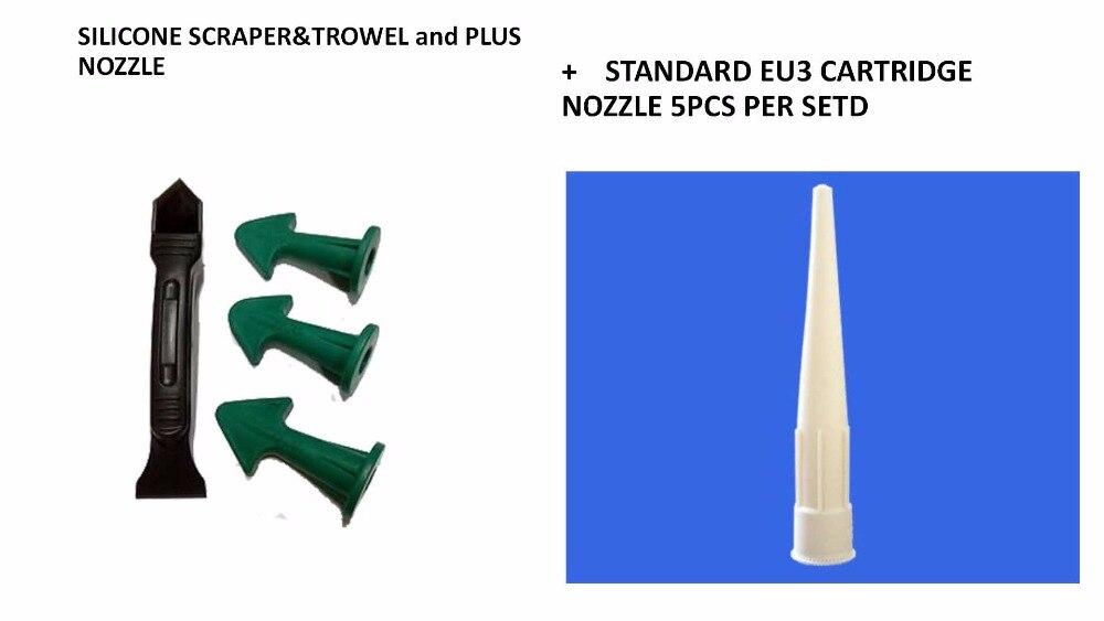 Free Shipping Caulking Tool Kit STANDARD EU3 CARTRIDGE SEALANT NOZZLE Nozzle Plus And Silicone Caulking Tools