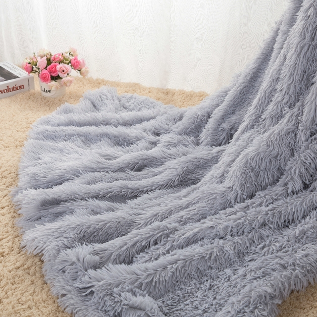 super soft long shaggy fuzzy fur faux fur warm elegant cozy with