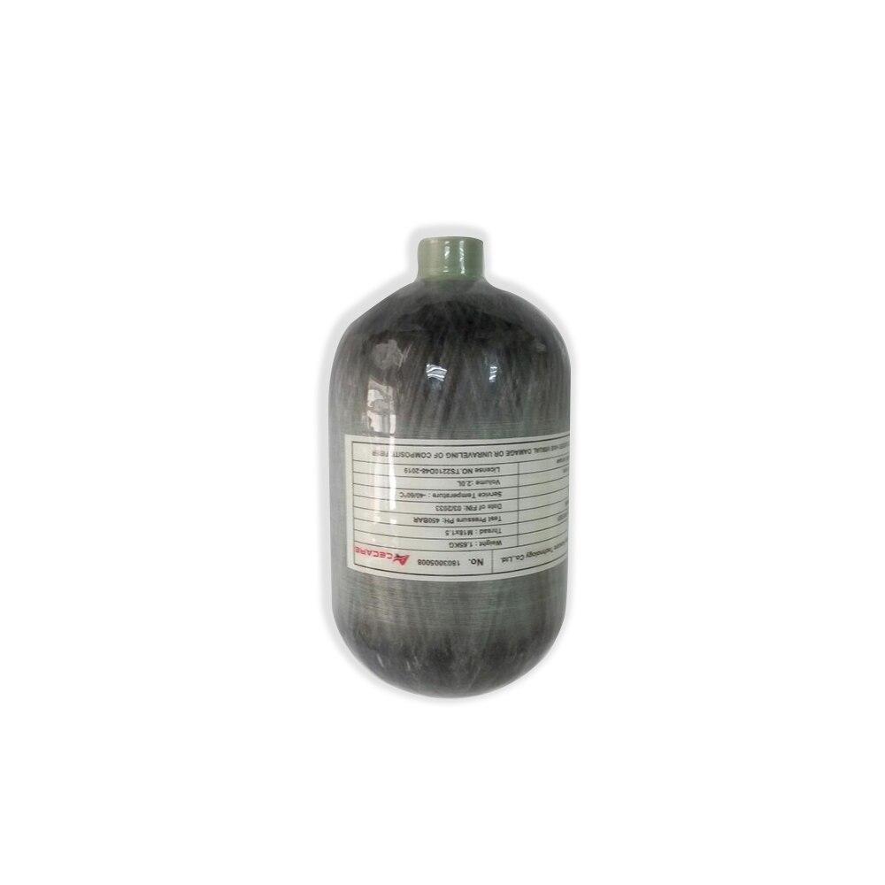 AC5020 Pcp fusil à Air Mini bouteille de plongée 2L Ce Paintball réservoir Hp 4500Psi Condor bouteille de gaz en Fiber de carbone/cylindre Airsoft