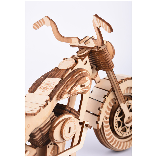 3D Motorcycle Wooden Puzzle
