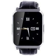 W90 smartwatch bluetooth smart watch hombres de cuero de lujo de negocios caballero vista completa pantalla de alta definición para ios android móviles