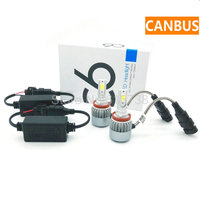 Car Headlamps H8 With Canbus LED Headlights Auto COB Chips Head Lamps Source 6000k 3000k Error