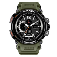 New SMAEL Brand Men S Chronograph Sports Military Watches Men Analog LED Digital Watch PU Strap