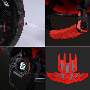 ROCKBROS Cycling Helmet Bike Ultralight Helmet With Light Integrally-molded Mountain Road Bicycle Helmet Safe Men Women 57-62cm