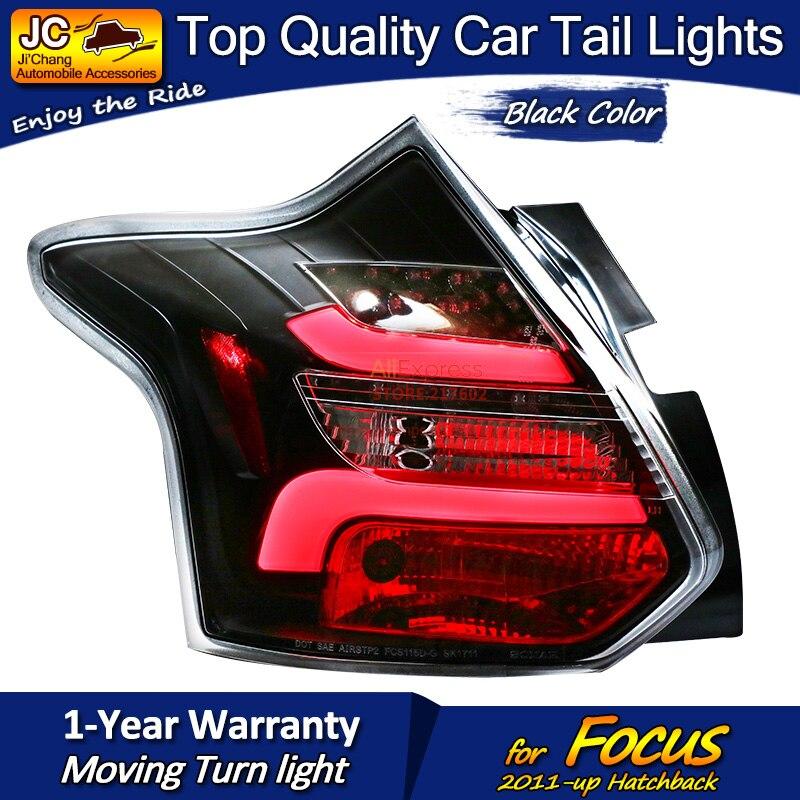 Для Ford Hatchback Focus черный корпус светодиодный задний фонарь в сборе подходит для автомобилей на 2011 год с последовательным индикатором простая ... - 4