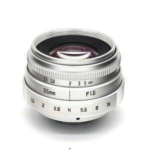 Image 3 - 35mm F1.6 CCTV Objectif Monture C Pour Sony A6500 A6400 A6300 A6000 A5100 A5000 NEX 6 NEX 7 NEX 5T NEX 5R NEX 3N APS C E mount NEX