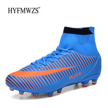 HYFMWZS 2018 New High Ankle Football Boots For Men And Boys