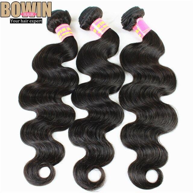 7A Brazilian Virgin Hair Body Wave 3 bundles Natural Black Color Human Hair Weave NoTangle Brazilian Hair Weave bundles