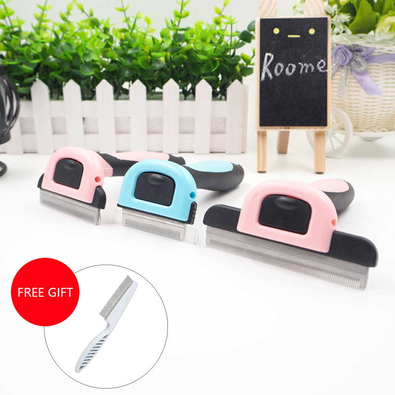 Dog Brush Pet Grooming Tool Hair Removal Comb for Dogs Cats Brush furmins Detachable Hair Shedding Trimmer